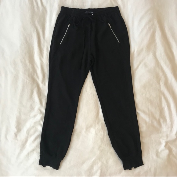Pants - Black Jogger Work Pants With Zippers